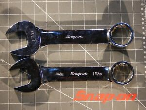 Snap On Tools 2pc Large Sae Short Wrench 1 5 16 Oex420b 1 3 8 Oex440 12pt Nice