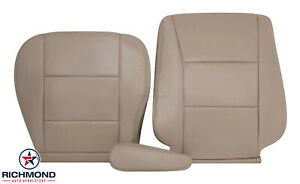 For 1998 2007 Toyota Land Cruiser Driver Side Complete Leather Seat Covers Tan Fits Toyota