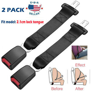 2pack 14 Universal Car Seat Seatbelt Safety Belt Extender Extension 7 8 Buckle
