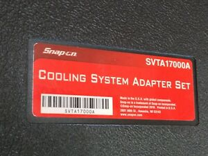 Snap On Cooling System Adapter Set Svta17000a