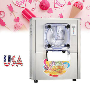 Usa Lcd Display Automatic Hard Ice Cream Make Machine For Drink Shop 1400w 20l h