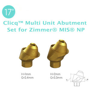 4 X 17 Angled Clicq Multi Unit Abutment Set For Zimmer Mis Np Dental Implant
