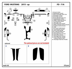 Real Carbon Fiber Dash Trim Kit For Ford Mustang 2015 2020 Coupe Interior Fd 71a