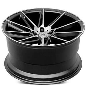 4ea 19 Staggered Verde Wheels V25 Quantum Satin Black Machined Rims S2