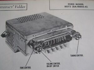1948 1949 Ford Model 8072 Radio Photofact