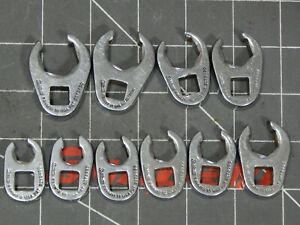 Snap On 10pc Metric 3 8 Dr Flare Nut Crowfoot Wrench Set 9mm 18mm 210frhm 6pt