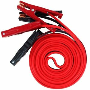 20 Ft 2 Gauge Comercial Heavy Duty 600 Amp Clamps Booster Cable Jumper Cables