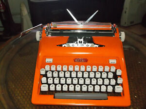 Antique 1950s Royal Orange Manual Portable Typewriter