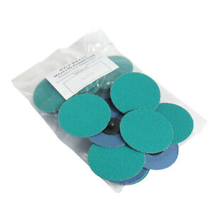 25pc 3 60 Grit Green Zirconia Roloc Type Roll On Lock Sanding Disc Made In Usa