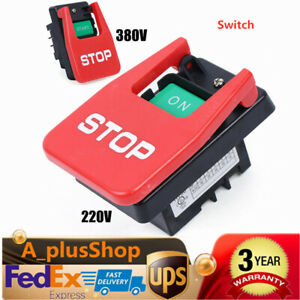 220v 380v Industrial Large On Off Pushbutton Switch For Table Saw Usa Stock