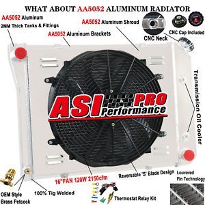 3row Radiator shroud fan For 68 74 Chevy Nova 70 81 Chevy Camaro 75 87 El Camino