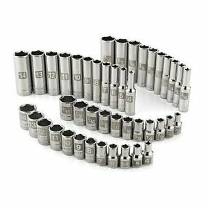 Craftsman 44 pc 6 pt 1 4 Drive Standard deep Inch metric Easy Read Socket Set