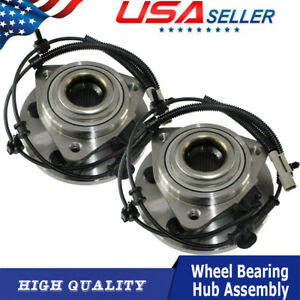 2 New Front Wheel Hub Bearing Assembly For Jeep Grand Cherokee 05 10 5 Lug W abs