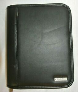 Franklin Covey Compact Leather Planner Binder 6 Ring Zip With Inserts New