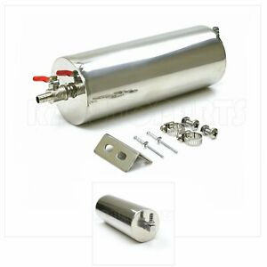 For Gmc 3 X 8 Radiator Overflow Coolant Tank Polished Stainless Steel 20oz Can
