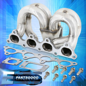 For 88 00 Honda Civic Performance Stainless Steel T3 T4 Turbo Manifold B Series