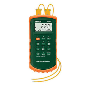 Extech 421502 Thermometer Dual J k W probe Holster