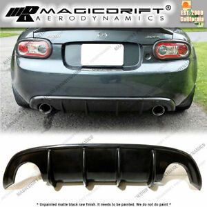 For 09 15 Mazda Miata Nc2 Nc3 Mda Style 4 Fin Rear Bumper Lower Diffuser Lip