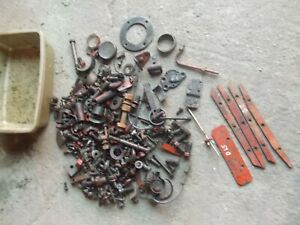 Allis Chalmers D15 Tractor Box Misc Ac Bolts Nuts Parts Pieces Brackets