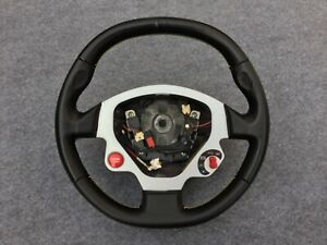 Ferrari F430 Steering Wheel Black W Yellow Stitch Oem Used Top