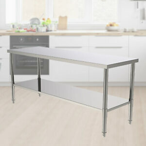 24 x70 x32 Commercial Stainless Steel Heavy Duty Food Prep Work Table Kitchen