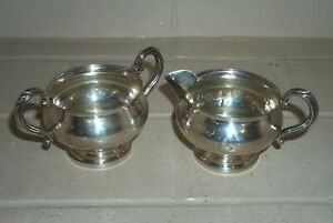 Vintage Fisher Weighted Sterling Silver Creamer And Sugar 723