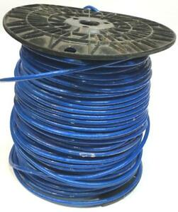 Wire Thhn 10 Awg Gauge Blue Nylon Stranded Copper Wire Roll Open Partial Roll