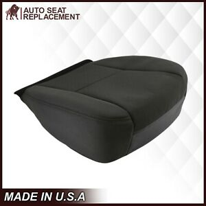 2009 2010 2011 2012 2013 14 Chevy Silverado Bottom Cloth Fabric Seat Cover Black