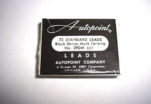 Box of 72 Autopoint 1.1mm Electrographic Very Soft Very Dark Lead Refills!