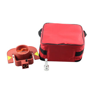 Red Single Prism For Leica Type Total Station