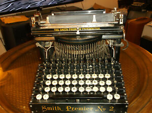 1902 Smith Premier No 2 Typewriter Functional Serial No 60586