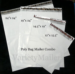 12 Poly Mailer Variety Pack 4 Ex large Sizes 2 5 Mil Quality Envelope Bags