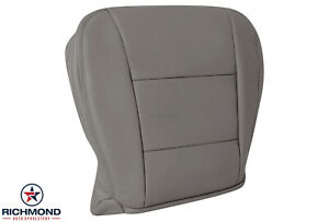 For 1999 2000 Toyota Landcruiser 4x4 Driver Side Bottom Leather Seat Cover Gray