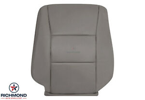 For 2003 2004 Toyota Land Cruiser driver Side Lean Back Leather Seat Cover Gray