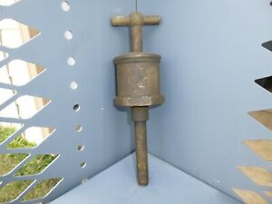 Antique Hit And Miss Steam Engine Brass Michigan Lubricator Co Grease Cup