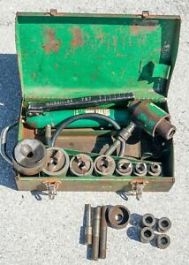 Greenlee 7306 Hydraulic Knock Punch Out Set 767 Hand Pump