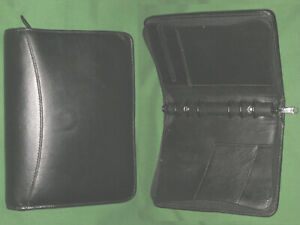 Compact 1 0 Black Leather Day Runner Planner Binder Franklin Covey 7236