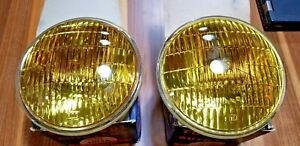 Vintage New Old Stock Tung Sol Amber Auto Lamp Fog Light Bulbs 5 3 4 Inch