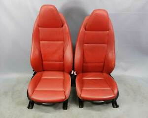 2009 2016 Bmw E89 Z4 Roadster Factory Sports Seat Pair Coral Red Leather Oem