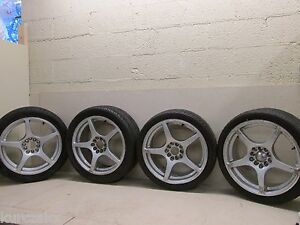 17 Bsa Racing Set Of 4 Rims Wheels Mustang Svt Kumho Tires 205 40 17 205 45 17