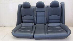 07 09 Mercedes E63 Amg Rear Seat Suede Leather Alcantara Lower Upper
