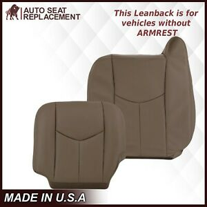 2003 2007 Gmc Sierra Chevy Silverado Work Truck Vinyl Seat Covers Tan 52v 522