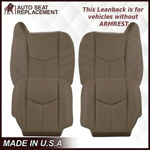 2003 2007 Gmc Sierra Chevy Silverado Work Truck Leather Seat Covers Tan 52v 522
