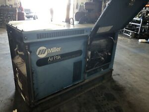Miller Big Blue Air Pak Welder Generator Air Compressor 3585 Hours Duetz Diesel