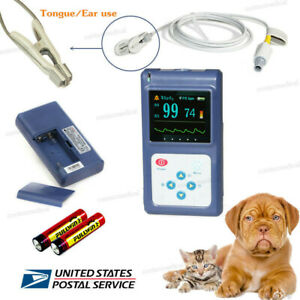 Animal Veterinary Pulse Oximeter Spo2 Blood Oxygen Heart Rate Monitor vet Probe