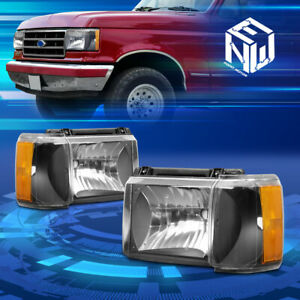 For 87 91 Ford F150 F250 Bronco Oe Style Headlight Corner Lamp Set Replacement