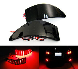 2x For 06 13 Lexus Is250 Black Smoked Bumper Reflector Led Tail Brake Stop Light