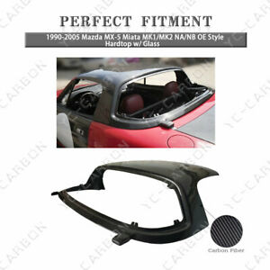 Carbon Fiber Oe Style Hardtop W Glass For 90 05 Mazda Mx 5 Miata Mk1 Mk2 Na Nb