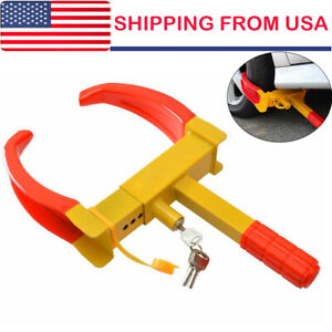 Wheel Lock Clamp Boot Tire Claw Car Truck Rv Trailer Anti Theft Towing Us Seller
