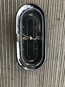 1958 Cadillac Westclox Electric Dash Clock 58 Oval Geo W Borg